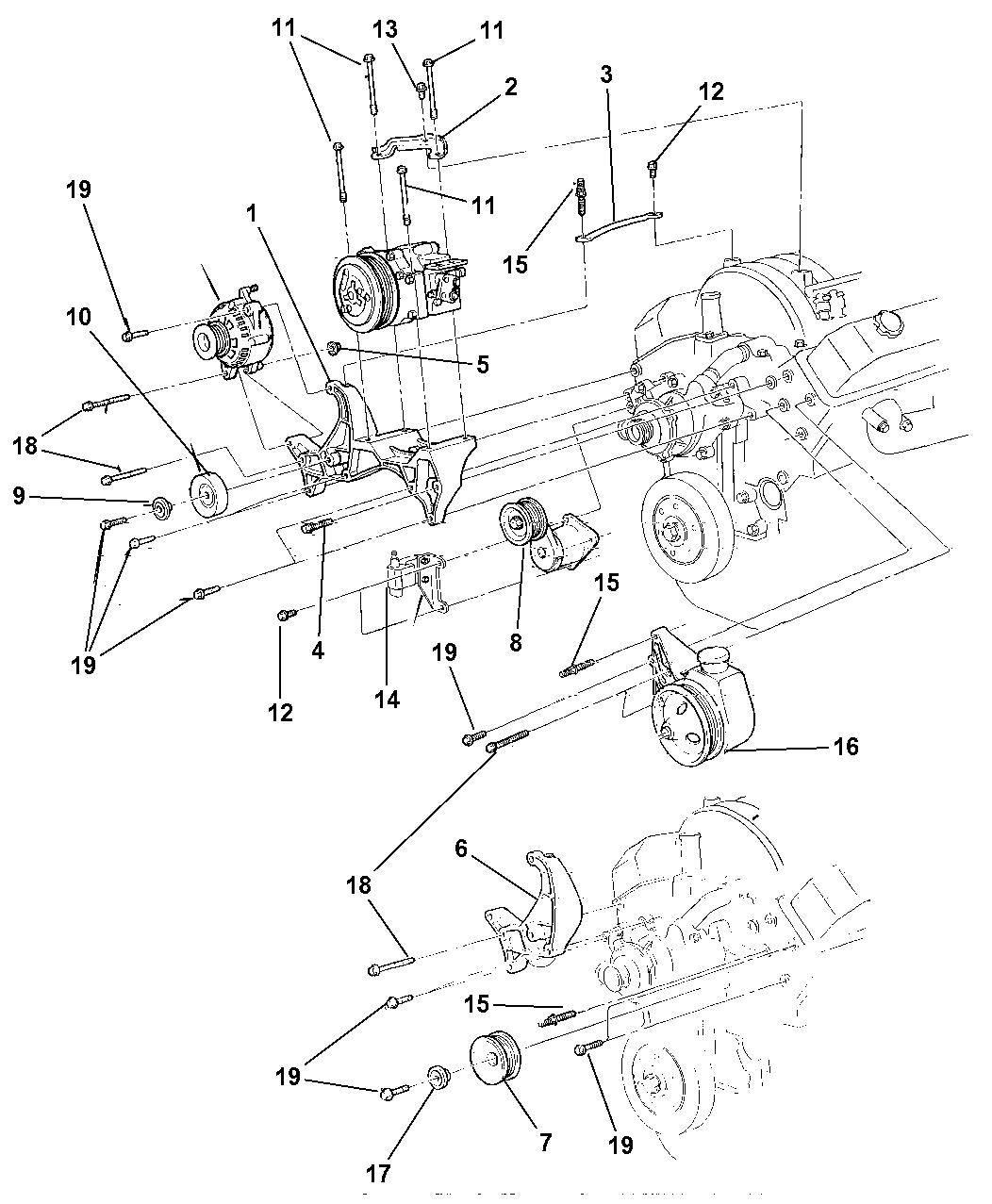Genuine Dodge BRACKET-A/C COMPRESSOR