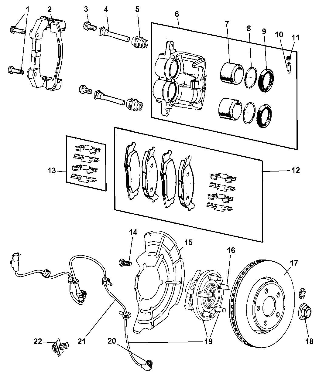 2009 Jeep Commander Front Brakes Mopar Parts Giant Fuse Diagram
