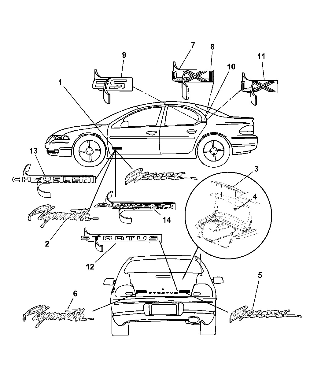 Chrysler Genuine 4805159AA Nameplate