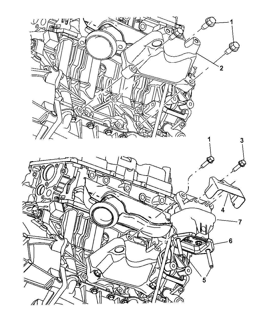 2008 Dodge Charger Engine Mounting Mopar Parts Giant 08 Diagram Thumbnail 1
