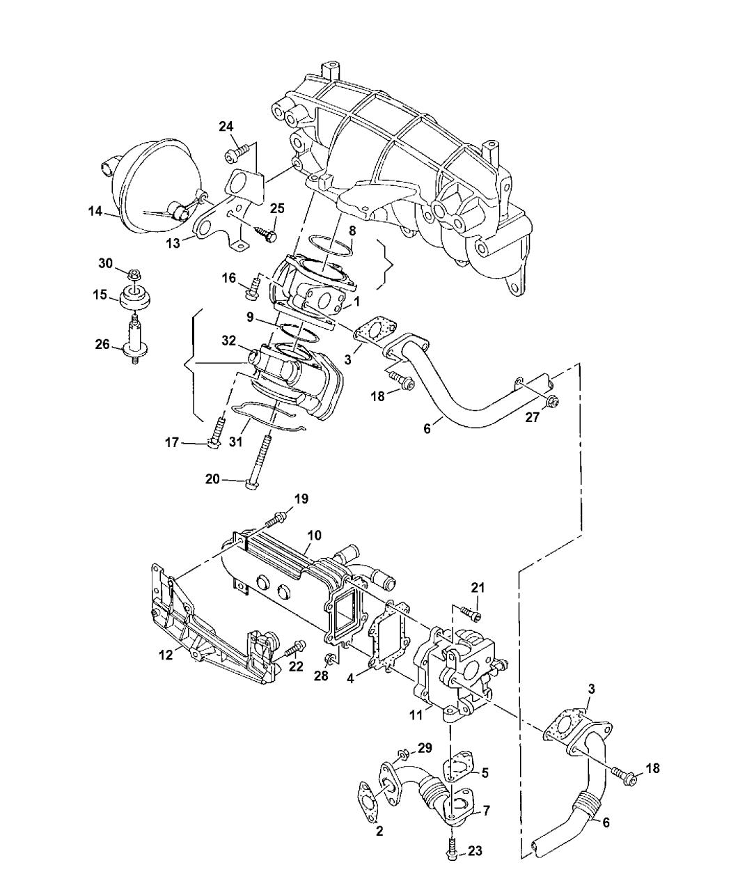 2009 Jeep Compass Egr Valve Related Mopar Parts Giant Engine Diagram Thumbnail 1