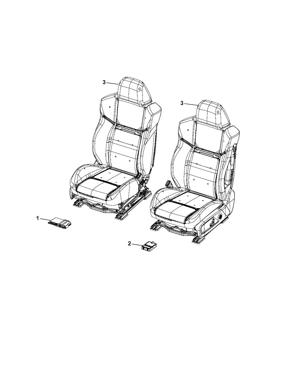 68277207AC  Genuine Mopar MODULEHEATED    SEAT