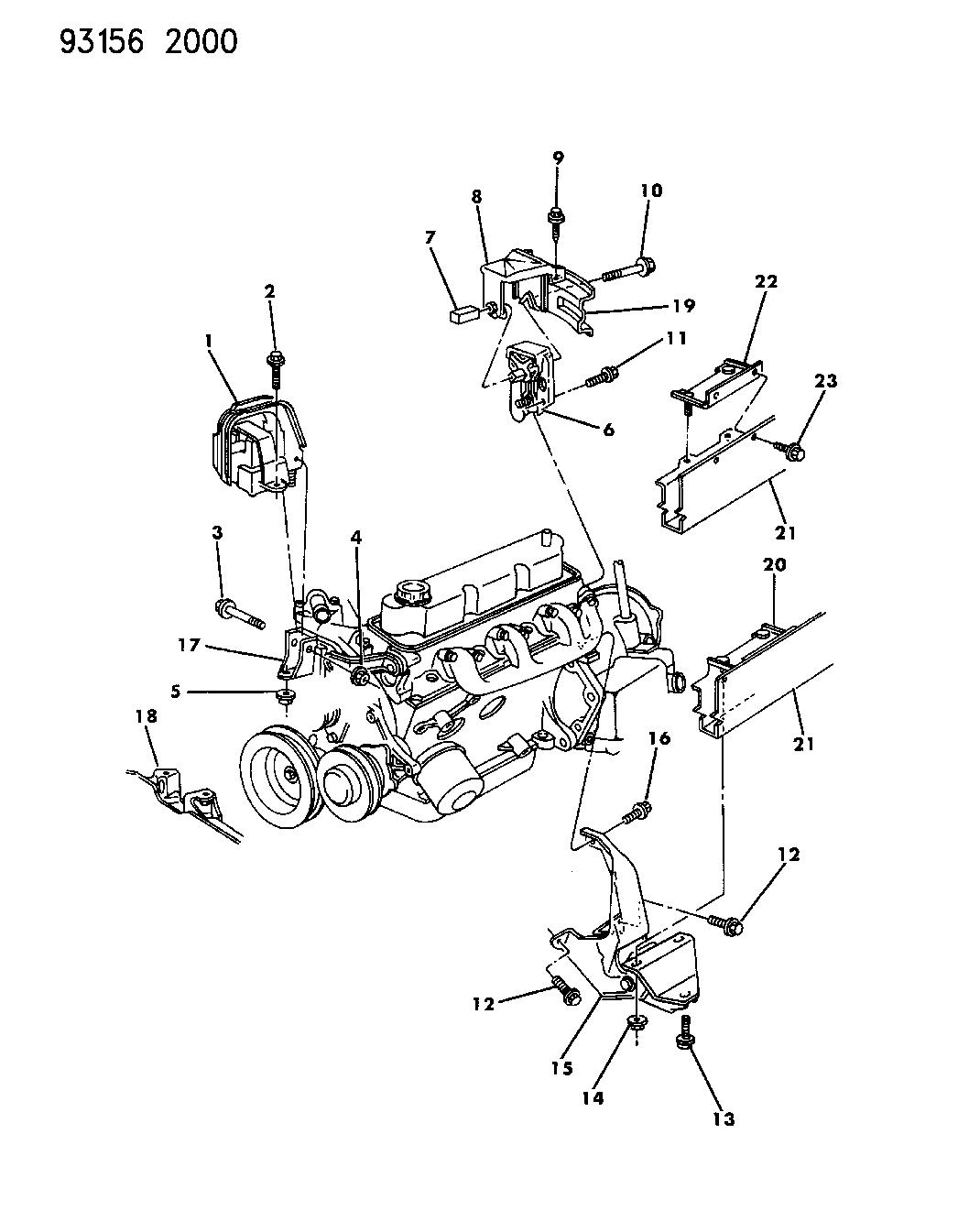 chrysler engine schematics 4612944 genuine mopar support engine mt front  4612944 genuine mopar support engine