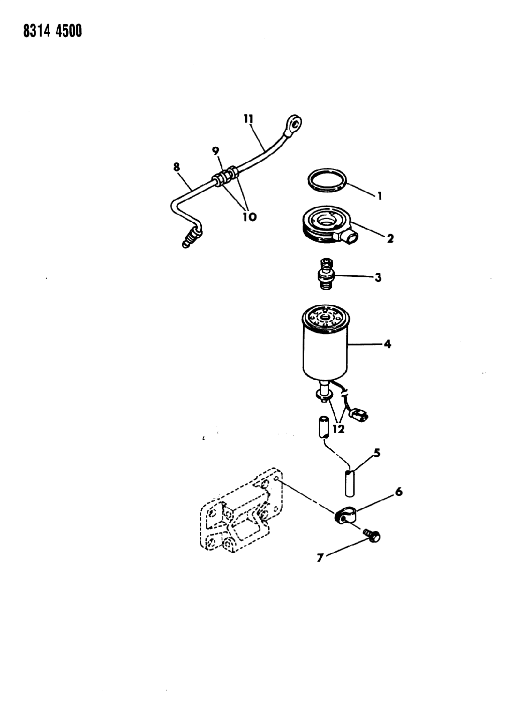1989 Dodge Ramcharger Fuel Filter - Thumbnail 2