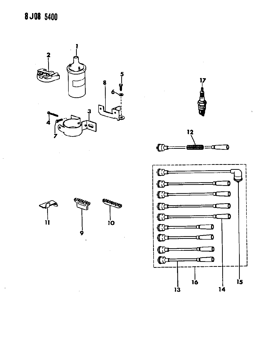 1988 jeep grand wagoneer coil sparkplugs wires rh moparpartsgiant com