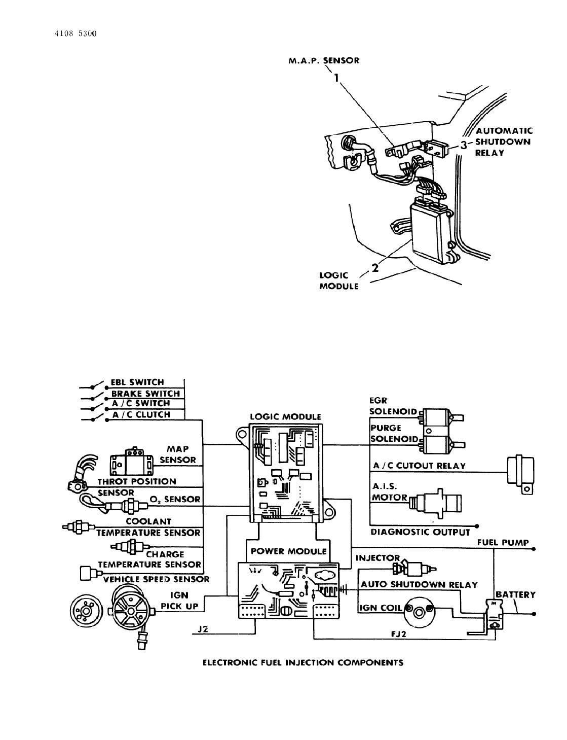 1984 Dodge Rampage M A P  Sensor  U0026 Logic Module