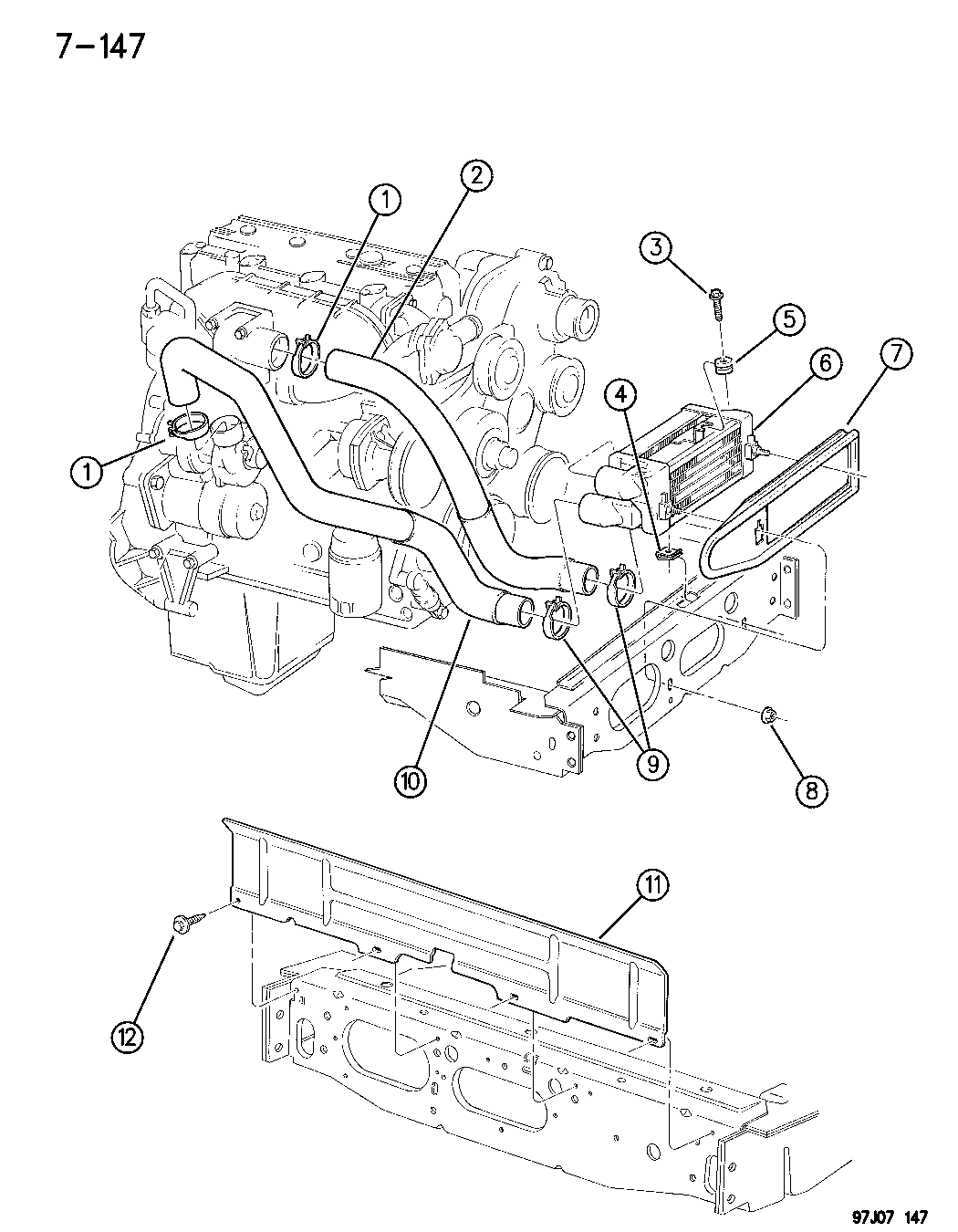 1996 Jeep Cherokee Charge Air Cooler