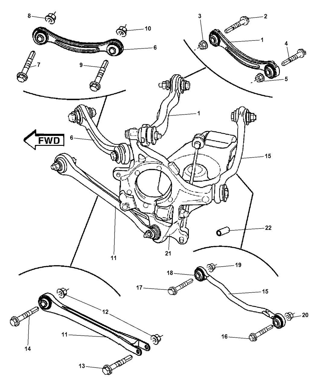 2008 dodge charger engine diagram 4782586ac genuine mopar knuckle rear  4782586ac genuine mopar knuckle rear