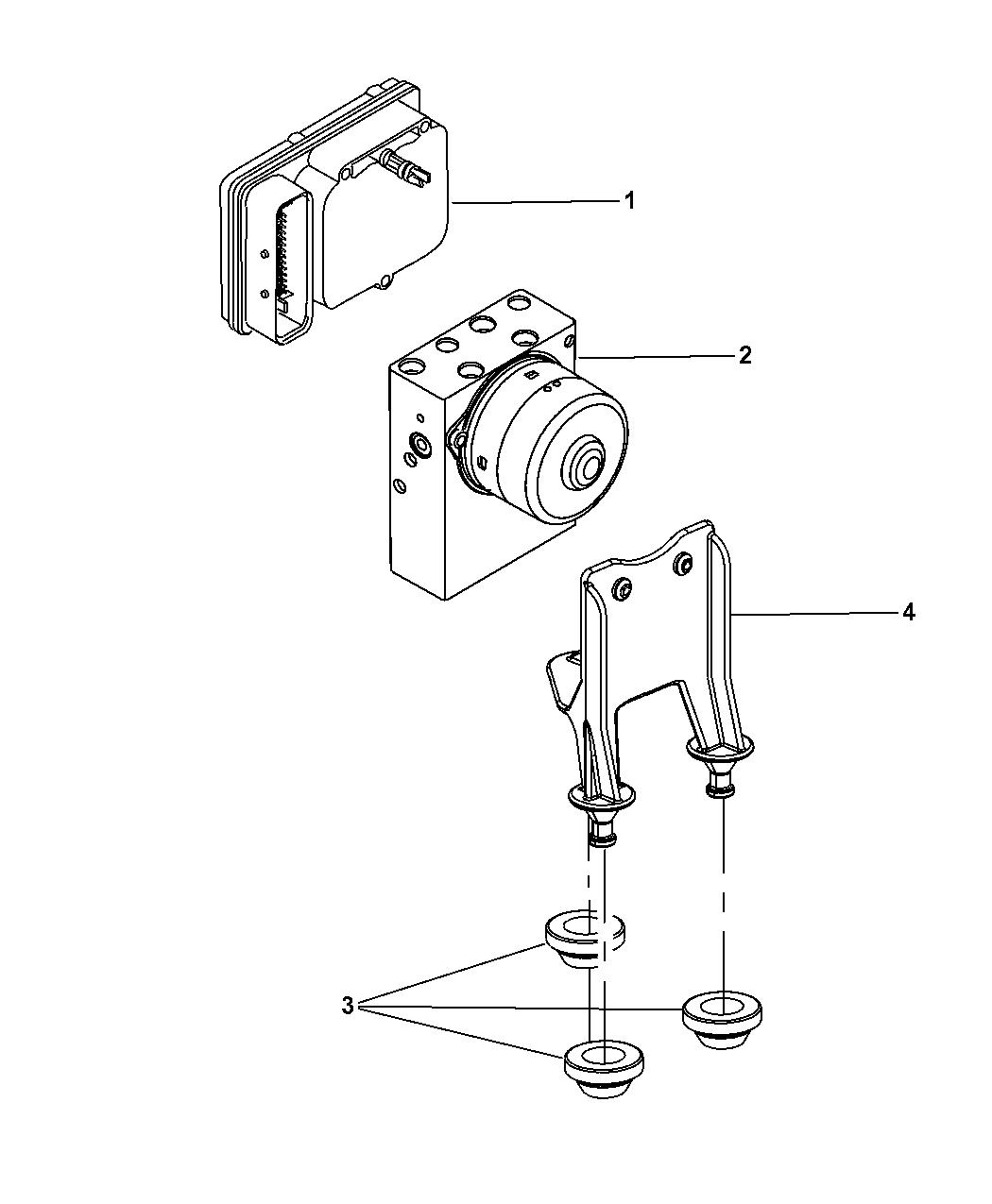 2005 Chrysler 300 Hydraulic Control Unit Anti
