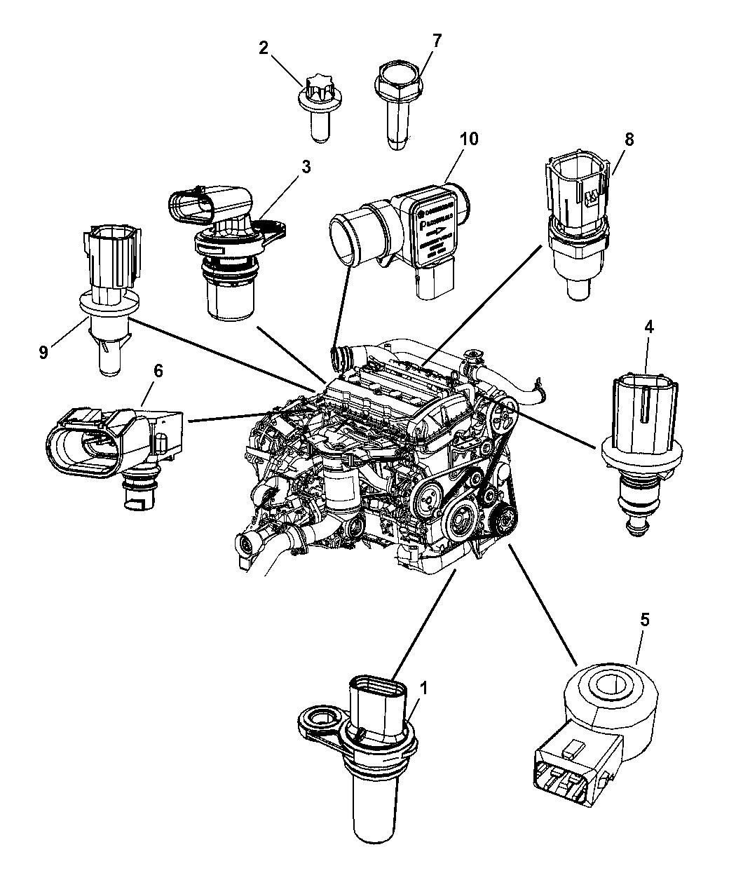 2009 Dodge Journey Sensors Engine Mopar Parts Giant Wiring Schematic Thumbnail 1