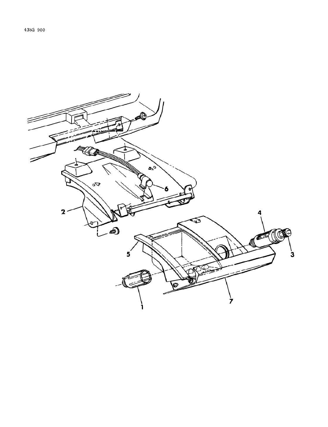 1984 dodge w150 instrument panel ash receiver  u0026 cigar lighter