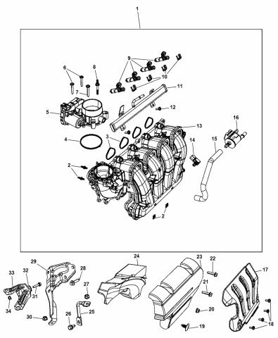 2015 Dodge Dart Intake Manifold - Mopar Parts GiantMopar Parts Giant