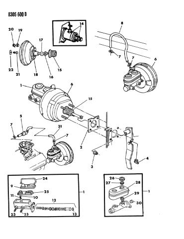 For 1983-1988 Dodge 600 Brake Master Cylinder Dorman 34476PK 1984 1985 1986 1987