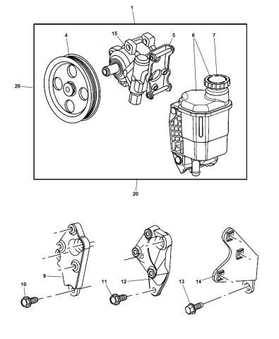 Genuine Chrysler 5015034AA Power Steering Pump Pulley