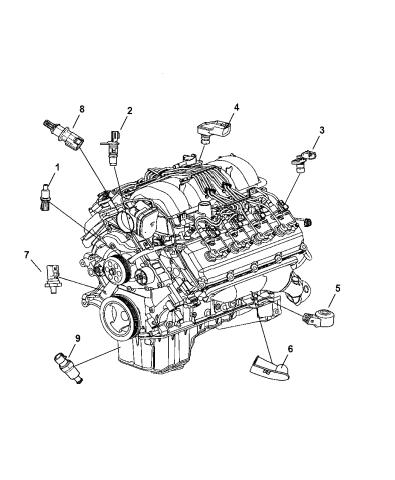 Sensors - Engine - 2007 Chrysler 300   Speed Sensors For 5 7 L Chrysler 300c Hemi Schematic      Mopar Parts Giant