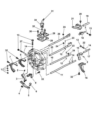1999 Dodge Dakota Fork Rail Of Manual Transmission
