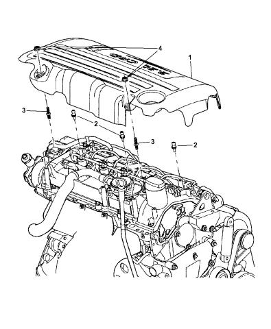 [TVPR_3874]  2007 Chrysler PT Cruiser Engine Cover & Mounting | 2007 Pt Cruiser Engine Diagram |  | Mopar Parts Giant