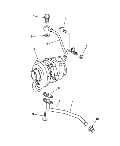 [SCHEMATICS_4FD]  2005 Dodge Sprinter 2500 Turbo, Oil Feed And Return Lines | 2005 Dodge Sprinter Engine Diagram |  | Mopar Parts Giant