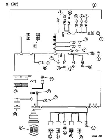 4763116 - Genuine Mopar WIRING AS-ASSY - HEADLAMP/DASH (V10)Mopar Parts Giant