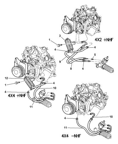 2000 Dodge Dakota Power Steering Hoses Mopar Parts Giant