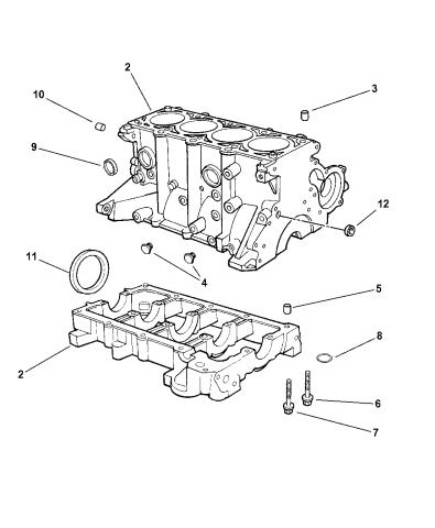 1999 Dodge Avenger Cylinder Block Mopar Parts Giant