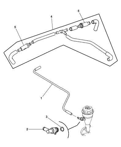 [SCHEMATICS_43NM]  53032850AD - Genuine Mopar HOSE-CRANKCASE VENT | 2005 Dodge Durango Engine Diagram |  | Mopar Parts Giant
