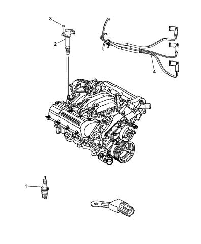 2010 Dodge Ram 1500 Spark Plugs, Ignition Coil, And Ignition CablesMopar Parts Giant