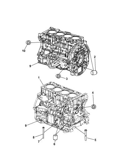 2008 Jeep Patriot Engine Cylinder Block Heater