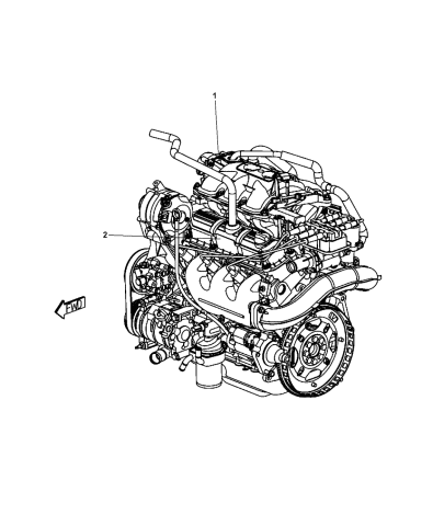 2008 Dodge Grand Caravan Engine Assembly Identification