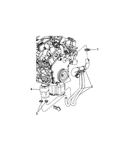 2010 dodge charger engine oil cooler & hoses/tubes  mopar parts giant