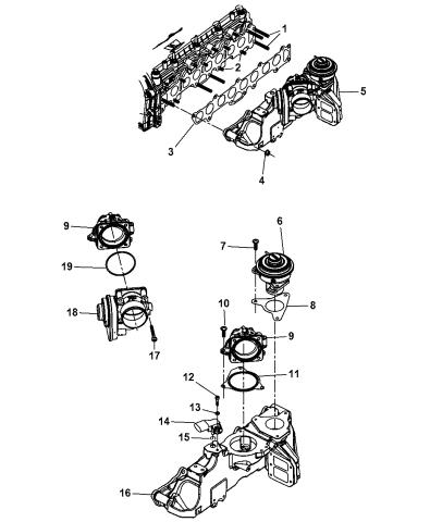 2007 Dodge Nitro Intake Manifold Mounting Mopar Parts Giant