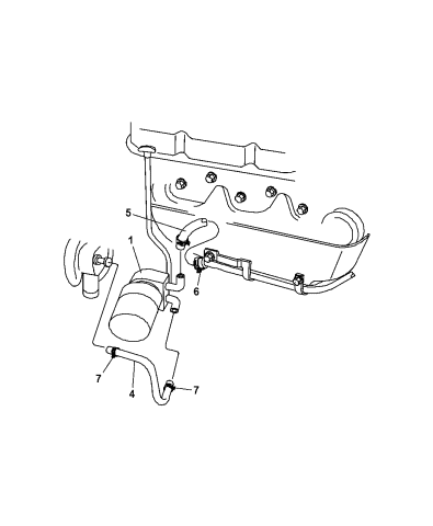 1997 Dodge Grand Caravan Engine Oil Cooler - Mopar Parts GiantMopar Parts Giant
