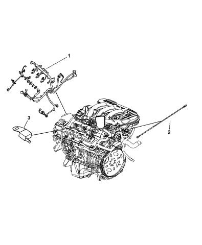 [DIAGRAM_38DE]  4801471AC - Genuine Mopar WIRING-ENGINE | 2007 Dodge Charger Engine Harness Diagram |  | Mopar Parts Giant