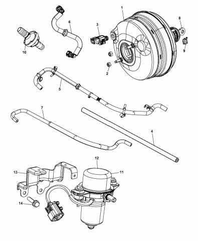 Bapmic 5154322AA Power Brake Booster Vacuum Pump for Chrysler Dodge Jeep GM