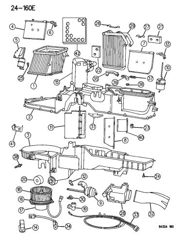 Air Conditioner & Heater Unit - 1994 Dodge Ram 1500Mopar Parts Giant