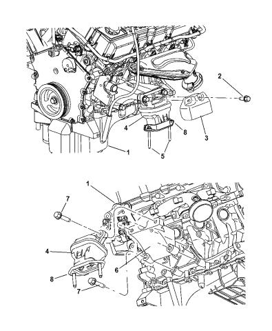 2005 Dodge Magnum Mounts, Front - Mopar Parts GiantMopar Parts Giant