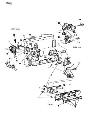 [SCHEMATICS_4NL]  1985 Chrysler New Yorker Mounting - Engine - Mopar Parts Giant | 1985 Chrysler 2 2l Engine Diagram |  | Mopar Parts Giant