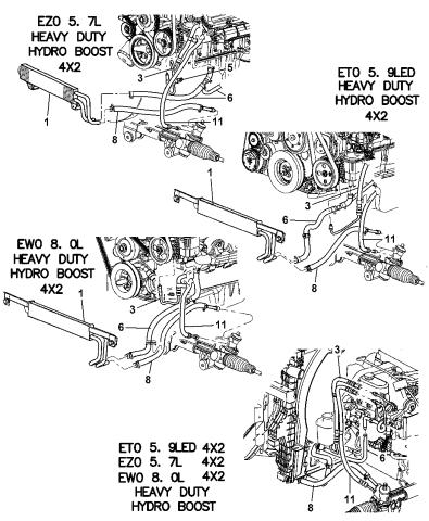 52113738AF - Genuine Mopar LINE-POWER STEERING PRESSUREMopar Parts Giant