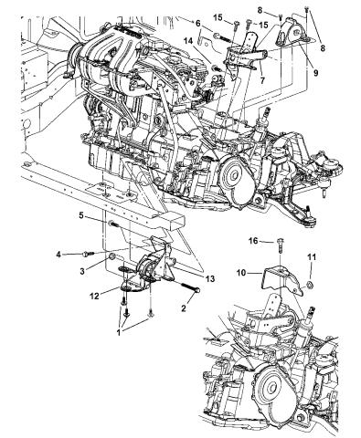 [SCHEMATICS_4HG]  2005 Dodge Grand Caravan Mount, Front & Rear Transmission | 2005 Dodge Grand Caravan Engine Diagram |  | Mopar Parts Giant