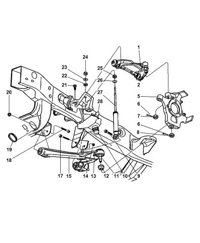 52038902ac - genuine mopar suspension control arm  mopar parts giant