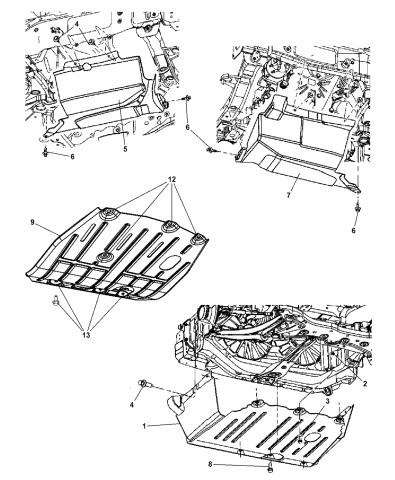 5116372AD - Genuine Mopar BELLY PAN-FRONTMopar Parts Giant