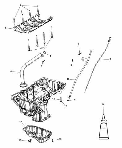 5184931af Genuine Mopar Tube Engine Oil Indicator