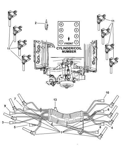 Genuine Mopar Cable Ignition, Dodge Ram Wiring Diagram 2005