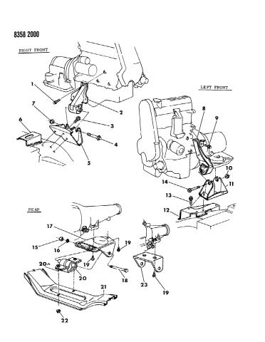 1989 Dodge Dakota Engine Mounting Mopar Parts Giant