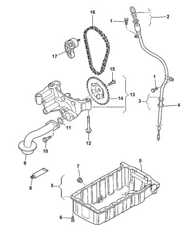 2008 Dodge Avenger Engine Oil Pan & Engine Oil Level Indicator & Related  PartsMopar Parts Giant