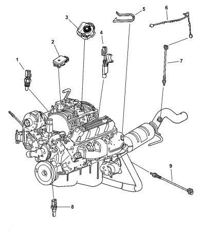 2001 dodge durango sensors - engine - mopar parts giant  mopar parts giant