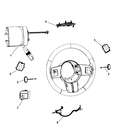 2011 Jeep Grand Cherokee Switches - Steering Column & Wheel Diagram