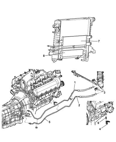 2002 Dodge Ram 1500 Transmission Oil Cooler Lines