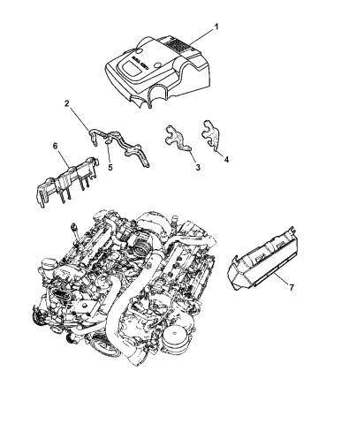 Chrysler Genuine 53013789AB Engine Cover