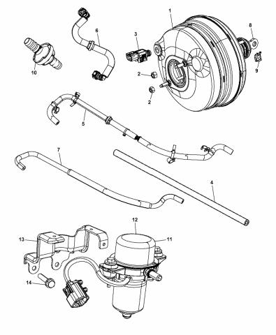CHRYSLER OEM-Power Brake Booster Clip 4581512AA